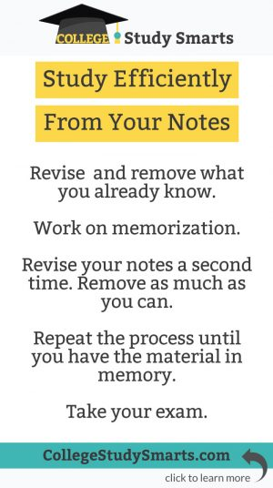 Study Efficiently From Your Notes