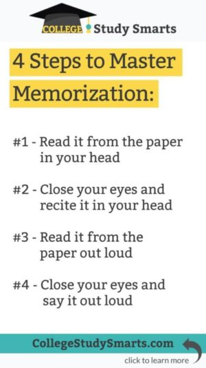 four steps to master memorization