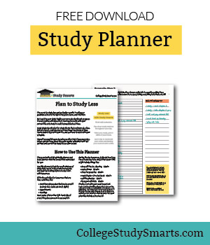 graphic regarding Study Planner Printable named Totally free Examine Planner - Examine Considerably less With Far better Success