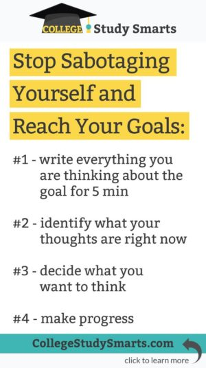 stop sabotaging yourself and reach your goals