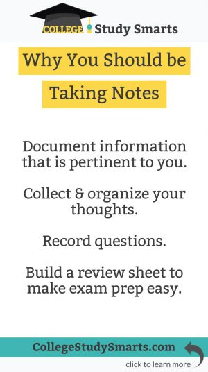 Why You Should be Taking Notes
