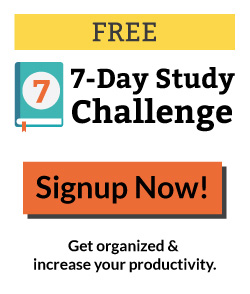 7-Day Study Challenge | sign up now to get organized and increase your productivity in the new year.