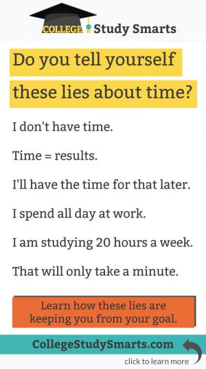 Do you tell yourself these lies about time?