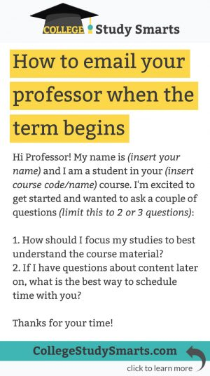 how to email your professor when the term begins