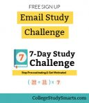 Free 7-Day College Study Challenge | Stop procrastinating and get motivated to study