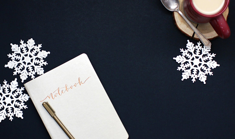 holiday notes and cocoa, create study budget