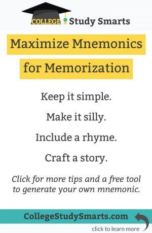 Maximize Mnemonics for Memorization