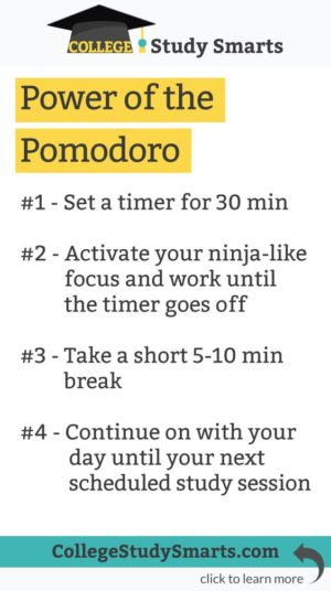 power of the pomodoro technique