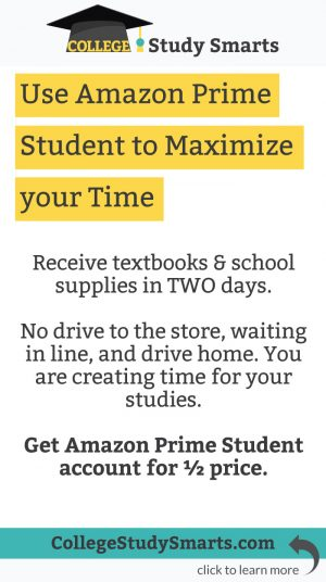 Use Amazon Prime Student to Create Study Time | collegestudysmarts.com