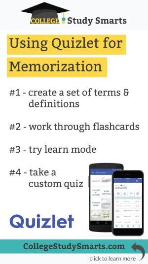 Using Quizlet for Memorization
