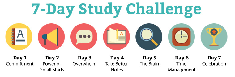 7-Day College Study Challenge Steps