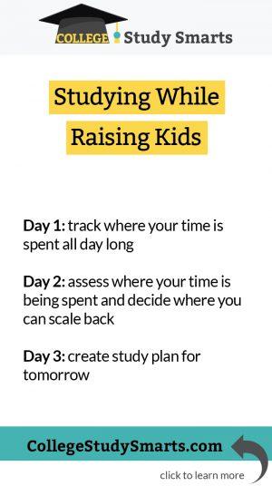 Study while raising kids, a 3-day plan