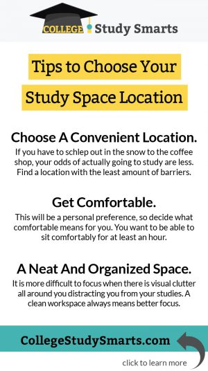 Tips to Choose Your Study Space Location