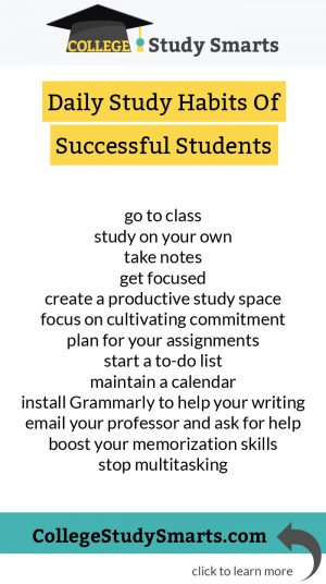 Daily Habits Of Successful College Students: Study Skills