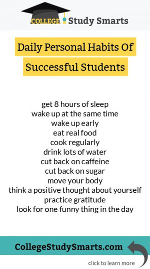 Daily Habits Of Successful College Students