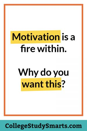 Motivation is a fire within. Why do you want this?
