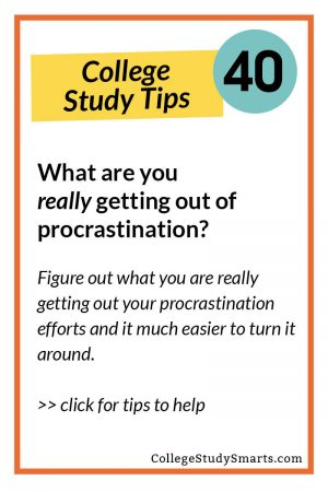 What are you really getting out of procrastination? Figure out what you are really getting out your procrastination efforts and it much easier to turn it around.