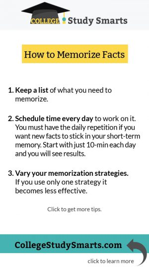 How to memorize facts and study faster and retain more