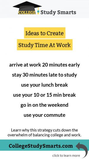 Ideas to Create Study Time At Work