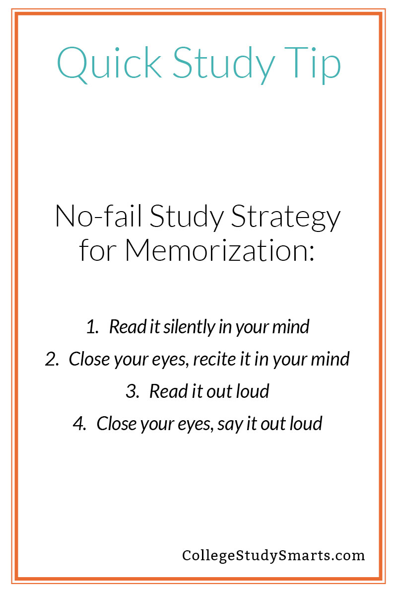No-fail Study Strategy for Memorization (only four steps)
