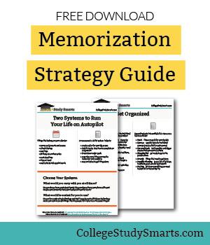 Download free memorization strategy workbook