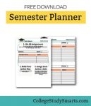 Download Free Semester Planning Worksheet