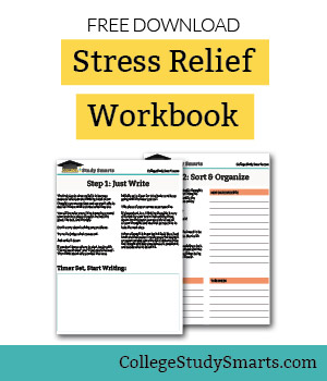 Download Free Stress ReliefWorkbook to stop stressing about school