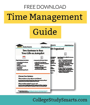 Download free guide to time management in college