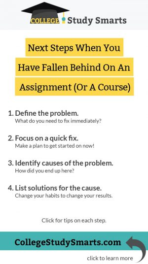 Next Steps When You Have Fallen Behind On An Assignment (Or A Course)