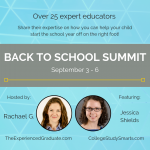 Back to School Summit, September 3-6, 2019 | Featuring Jessica Shields from CollegeStudySmarts.com